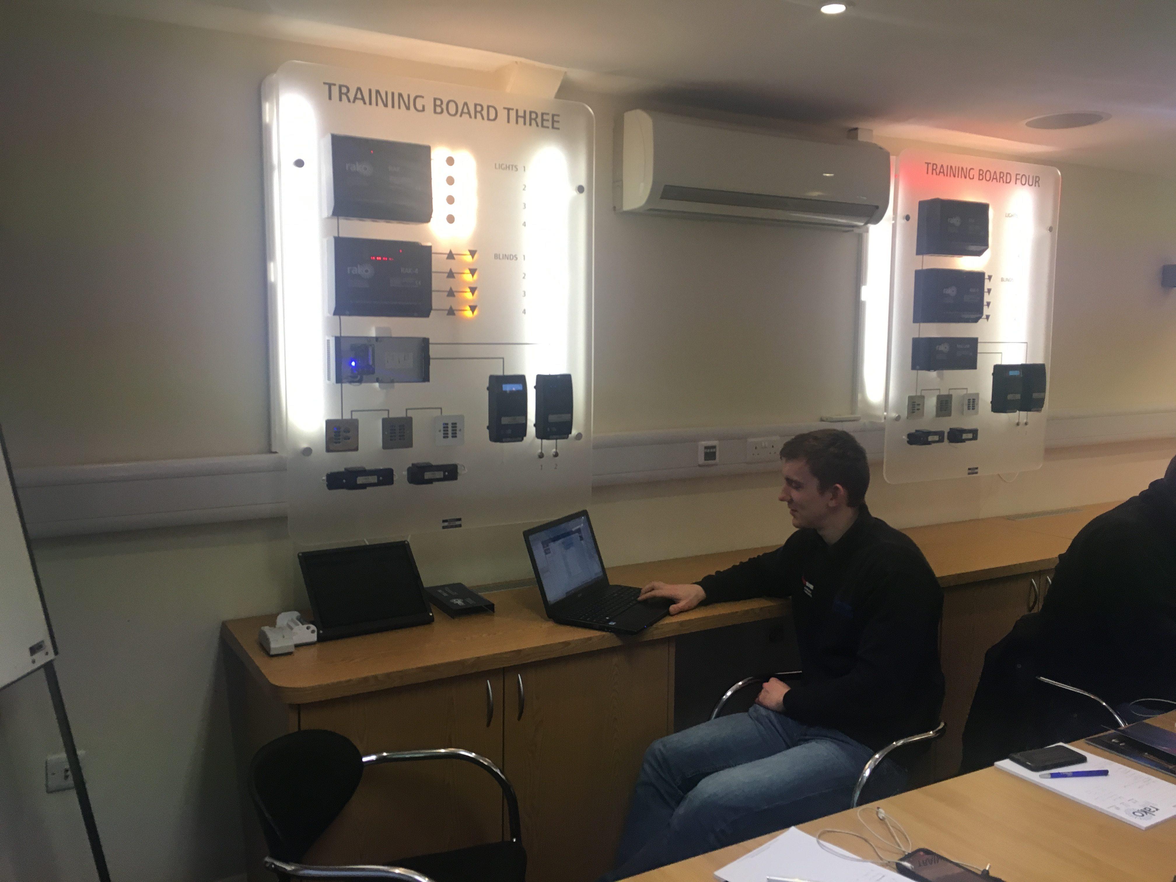 Jake at the training board